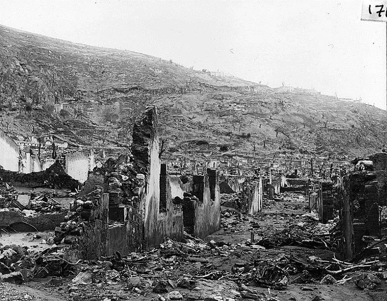 Разрушенный Сен-Пьер