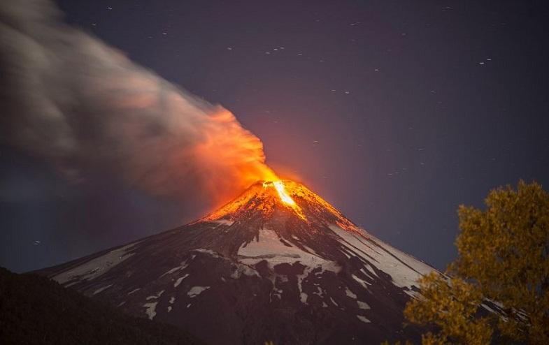 Вильяррика извержение