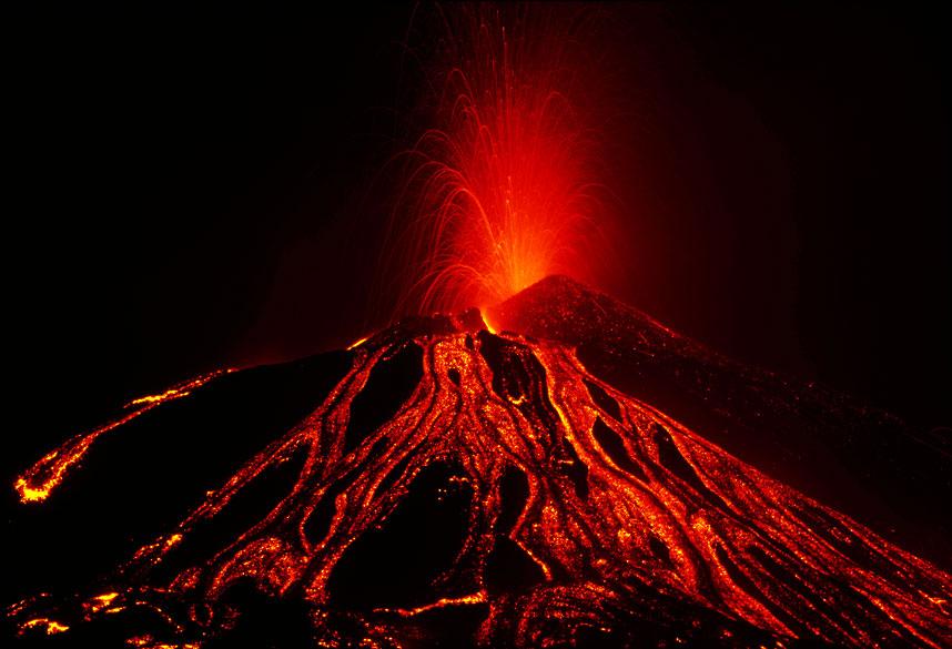 извержение Этны