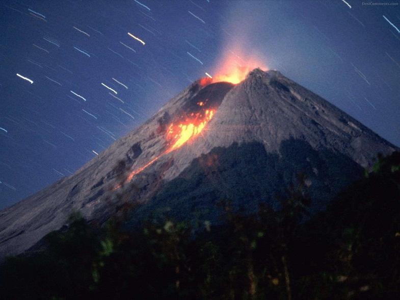 извержение Попокатепетля