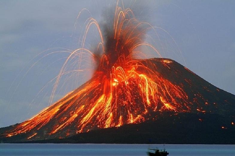 извержение Стромболи