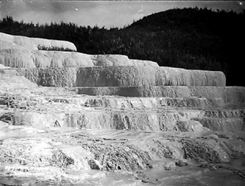 Белые террасы, фото 1885 года