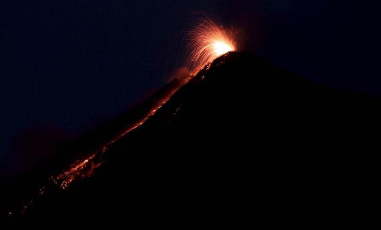 Фуэго извержение