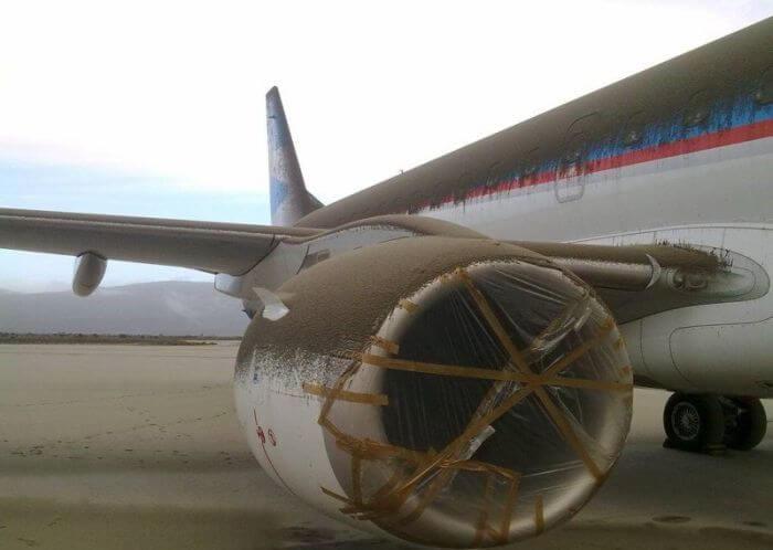 пепел на самолете