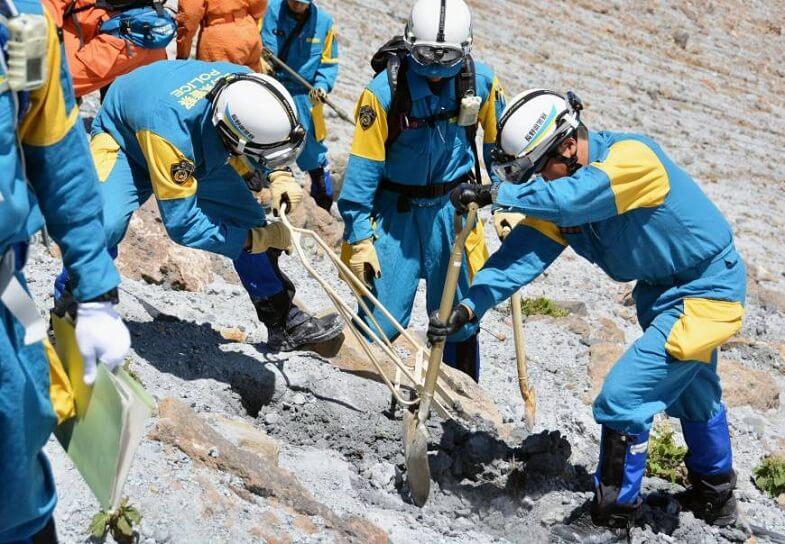 спасатели на Онтакэ