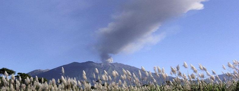 вулкан Раунг извержение