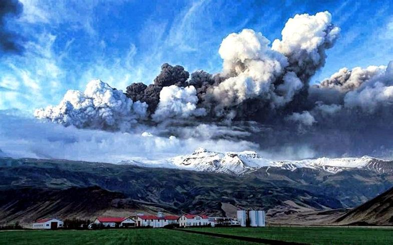 Извержение Эйяфьятлайокудля