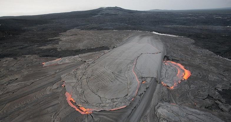 Питон-де-ла-Фурнез, прорыв лавы 8 октября