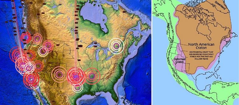 Землетрясения в Северной Америке