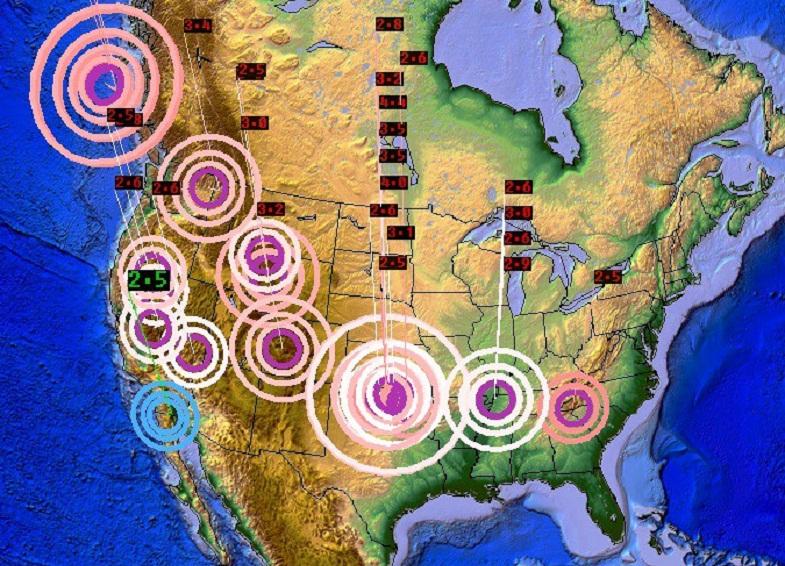Северная америка землетрясения