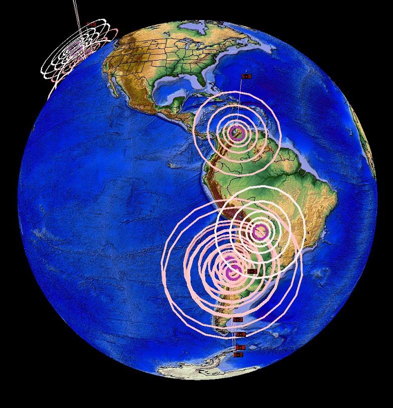 Землетрясения в Южной Америке 8 ноября