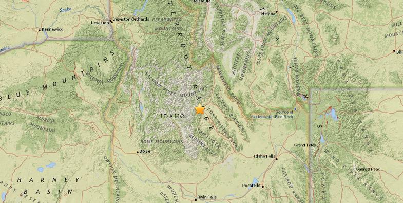Айдахо землетрясение