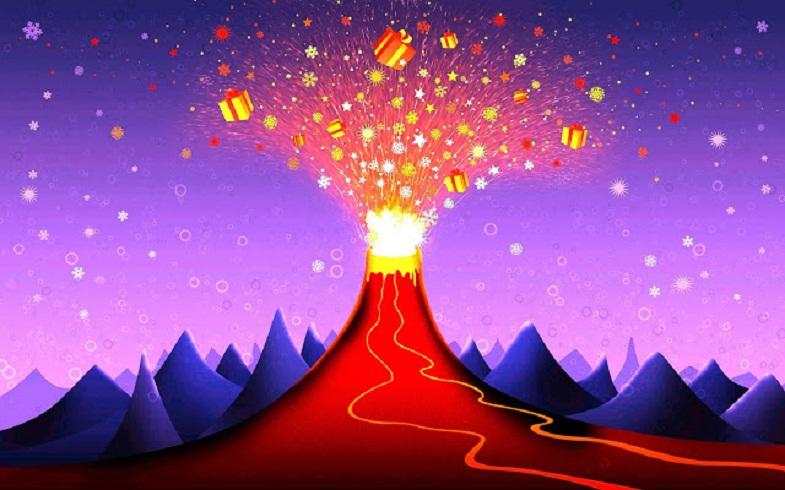 Новогодний вулкан