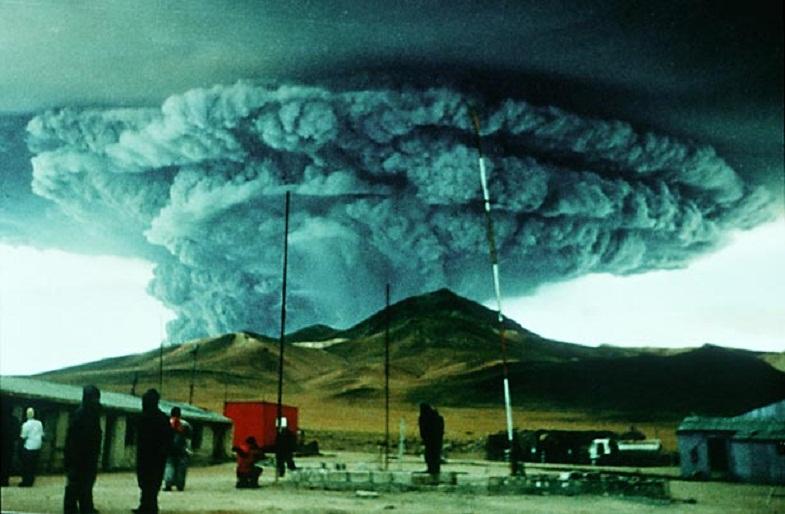 Извержение вулкана Ласкар в 1993 году