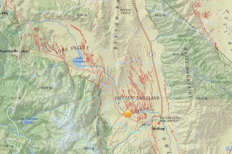 Лонг-Велли землетрясение