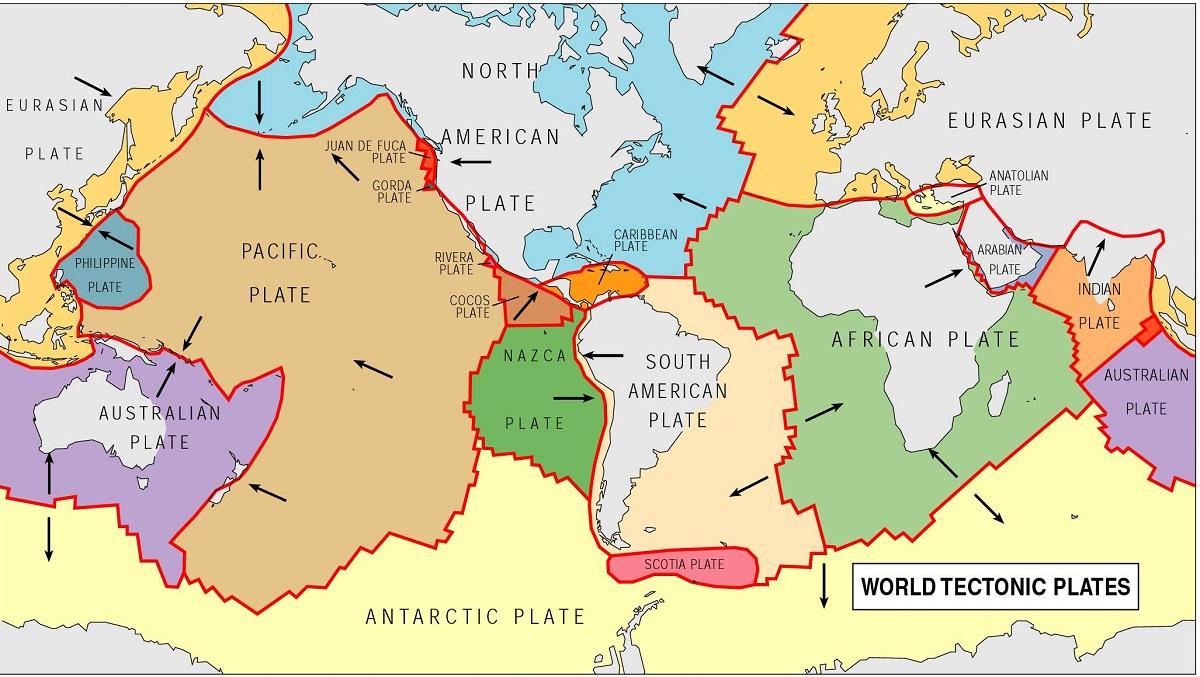 карта тектонических плит