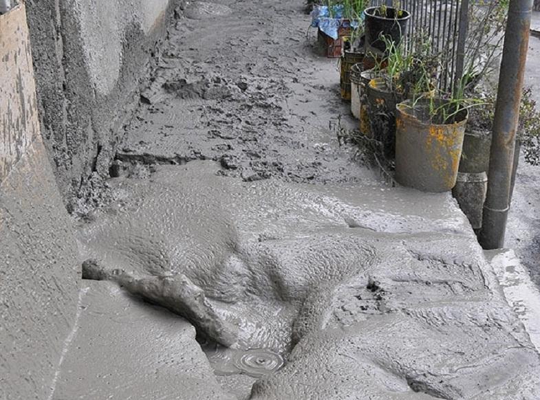 Этна грязевые потоки