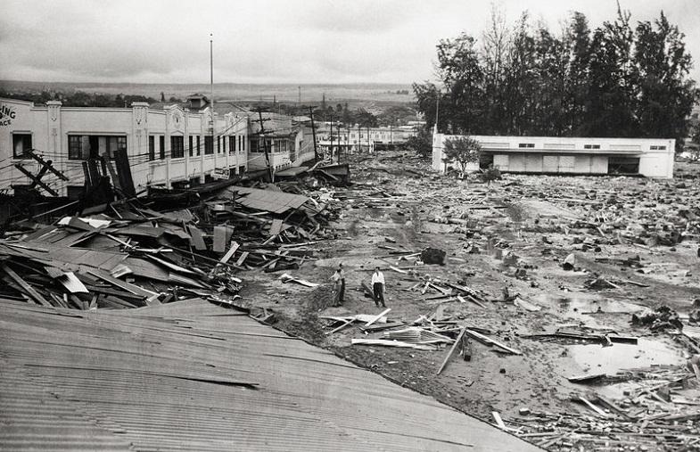 Последствия цунами на Гавайях в 1946 году
