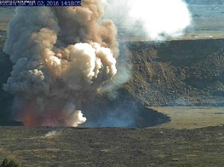 Взрыв лавового озера Килауэа
