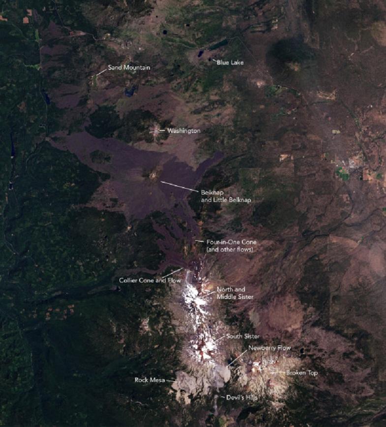 Вулканический комплекс в Каскадах