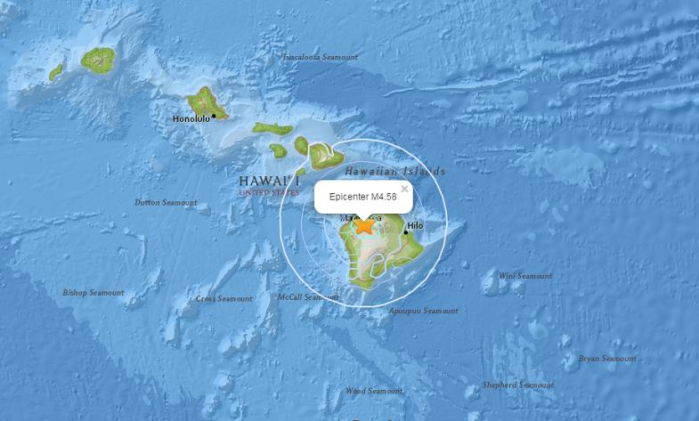 Мауна-Кеа землетрясение