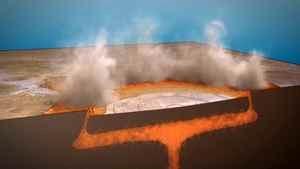 Ва-Ва-Спрингс извержение