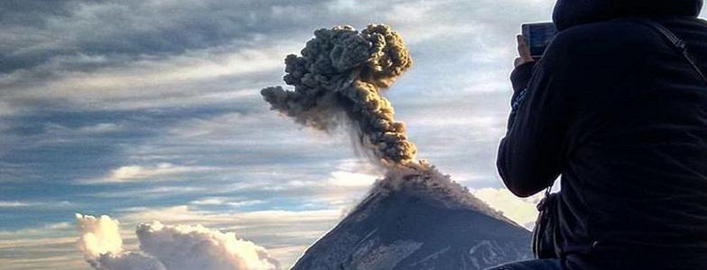 Фуэго вулкан апрель