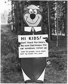 Мишка Йоги в Йеллоустоунском парке