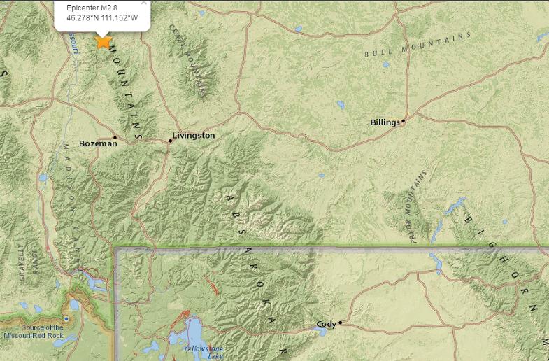 Монтана землетрясение