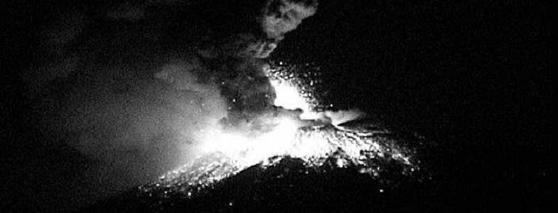Попокатепетль вулкан 18 апреля