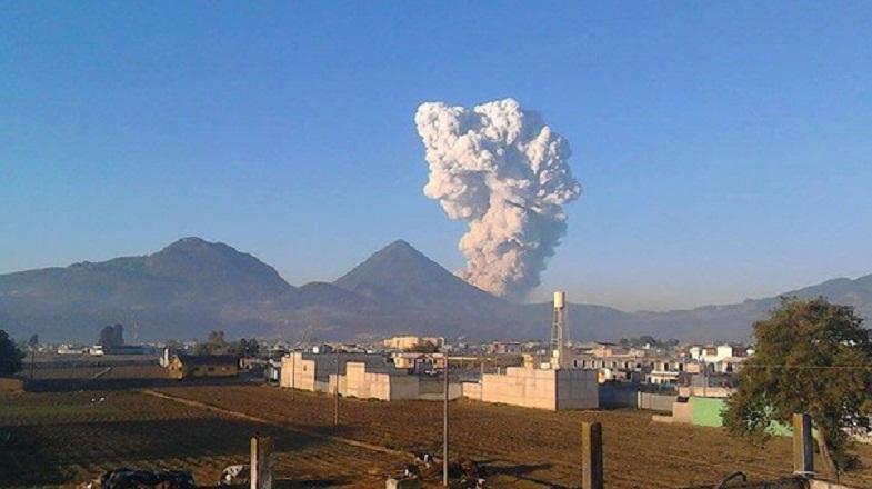 Сантьягуито вулкан 11 апреля