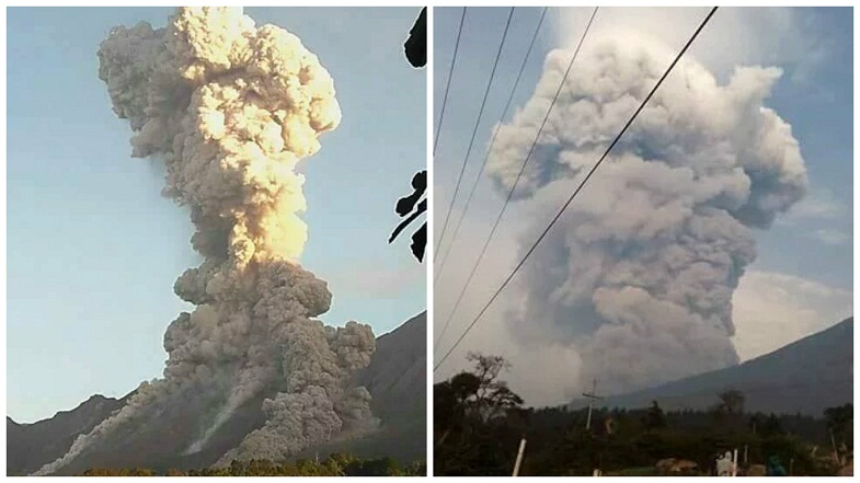 Сантьягуито вулкан 21 апреля