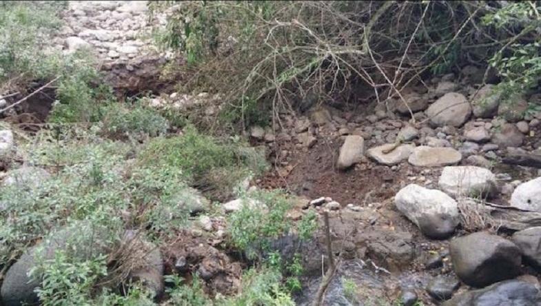 высохшее русло мексиканской реки
