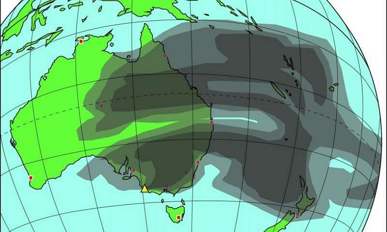 Австралия модель извержения