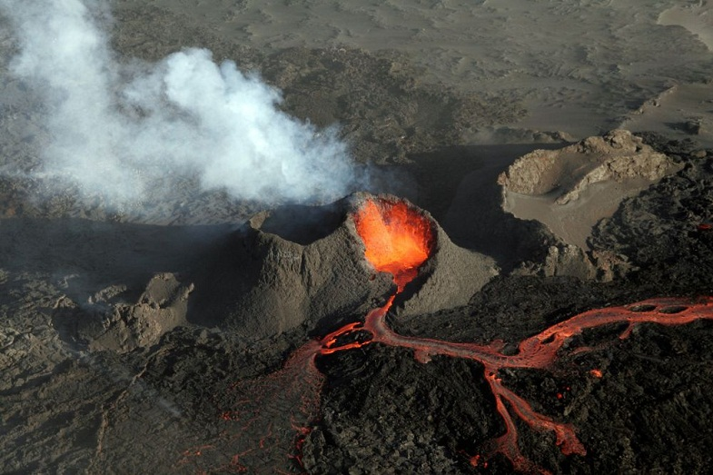 Извержение Баурдарбунги в 2014 году