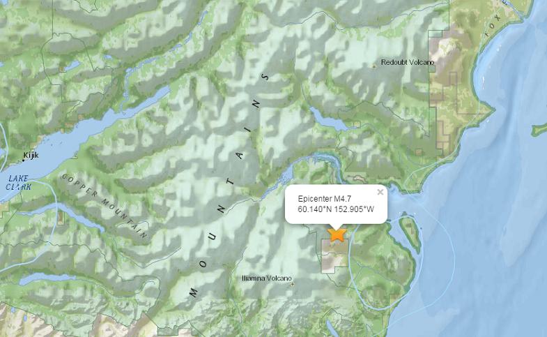Илиамна землетрясение