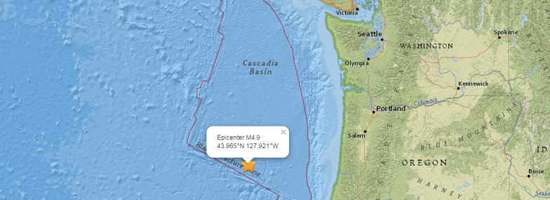 Каскадия землетрясение 20 мая
