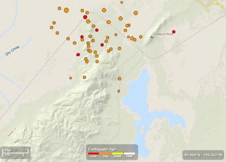 Невада землетрясения