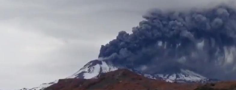 Невадос-де-Чильян извержение