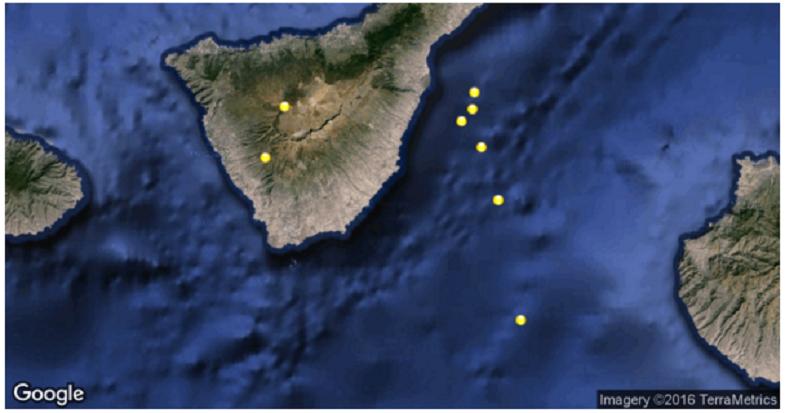 Тейде землетрясения