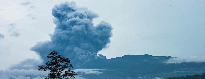 Турриальба вулкан 20 мая