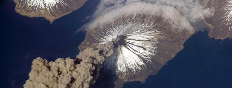 вулкан на Аляске
