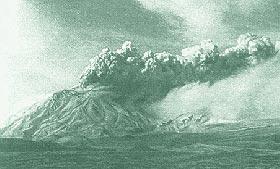 Извержение Безымянного в октябре 1955 года.