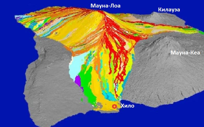 Лавовые потоки на Мауна-Лоа