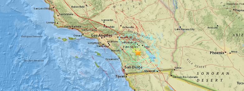 Сан Хасинто землетрясение