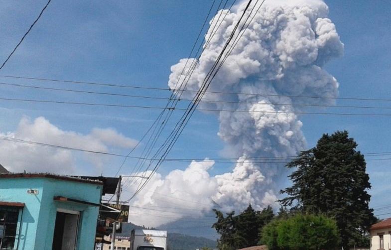 Сантьягуито вулкан 17 июня