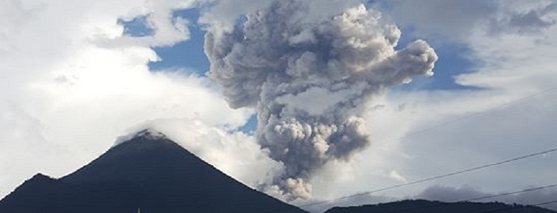 Сантьягуито вулкан 26 июня