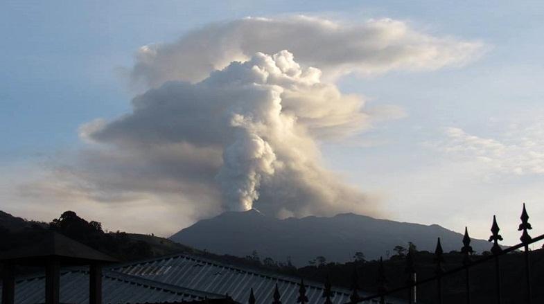 Турриальба вулкан 2 июня