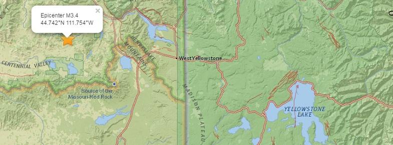 Йеллоустоун землетрясение 20 июня