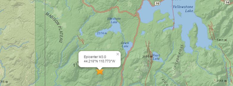 Йеллоустоун землетрясение 30 июня